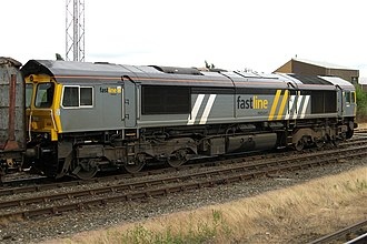 Fastline - Fastline Class 66 66434 seen at Chester operating a Chirk to Carlisle logging train for Colas Rail, 4 months after Fastline ceased trading.