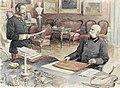 Felician von Myrbach-Rheinfeld - Kaiser Franz Joseph I. von Österreich an seinem Schreibtisch in der Wiener Hofburg.jpg
