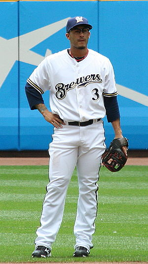 Felipe López (baseball) - Image: Felipe Lopez Brewers