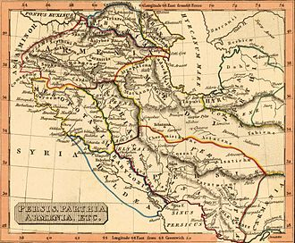 Sasanian Armenia - Persis, Parthia, Armenia. Rest Fenner, published in 1835