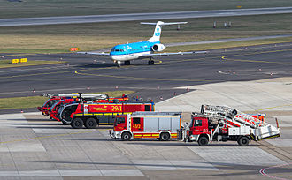Aircraft rescue and firefighting - Firefighters at the Düsseldorf Airport, Germany
