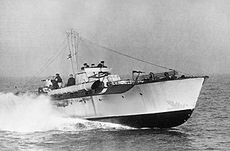 """Erik Hazelhoff Roelfzema - A British Motor Torpedo Boat similar to those used by """"the Mews"""""""