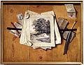 Filippo abbiati, trompe-l'oeil con stampe, 1690 circa.JPG
