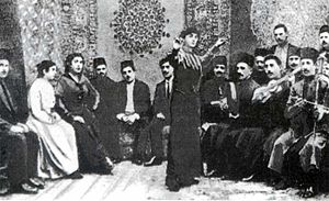 "Media of Azerbaijan - Scene from the Azerbaijani film ""In oil and millions kingdom"", 1916"