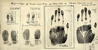 Forensic science - Fingerprints taken by William Herschel 1859/60.