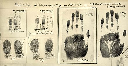 Fingerprints taken by William Herschel 1859/60 Fingerprints taken by William James Herschel 1859-1860.jpg