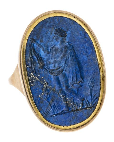 Fingerring med gem föreställande man, 1700-tal - Hallwylska museet - 110217
