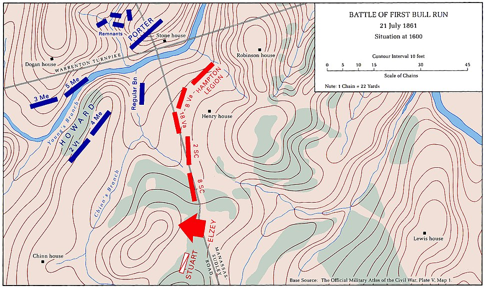First Battle of Bull Run Map11