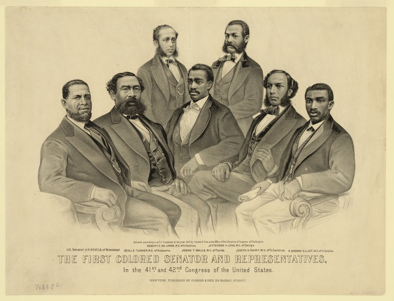 File:First Colored Senator and Representatives in the 41st and 42nd Congress of the United States.tiff
