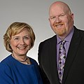 First Lady Hillary Clinton and Brett Bigham.jpg