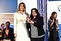 First Lady Melania Trump Poses for a Photo With International Women of Courage Awardee Jannat Al Ghezi of Iraq (33593821611).jpg