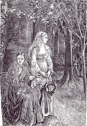 Carmilla - Funeral, illustration by Michael Fitzgerald for Carmilla in The Dark Blue (January 1872)