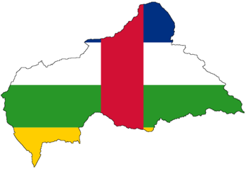 Flag-map of the Central African Republic