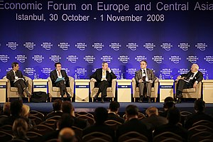 Waldemar Pawlak - Deputy Prime Minister W. Pawlak at the World Economic Forum on Europe and Central Asia in Istanbul 2008
