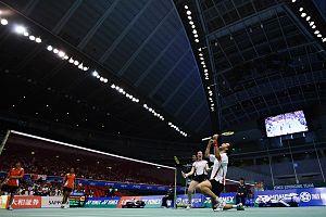 Joachim Fischer Nielsen - Joachim Fischer Nielsen and Christinna Pedersen against Nova Widianto and Lilyana Natsir at the 2009 Yonex Japan Open