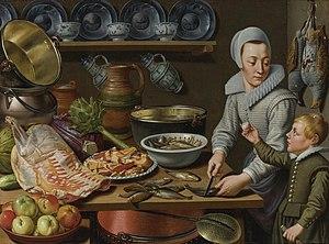 Floris van Schooten - Kitchen scene
