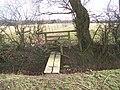 Footbridge and stile on footpath junction - geograph.org.uk - 1207121.jpg