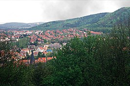 Forbach, view from the castle mountain to the city.jpg