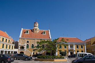 Fort Amsterdam (Curaçao) - Fort Amsterdam and the United Protestant Church of Willemstad.