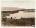 Fotografi på Jordanfloden vid utloppet från sjön Tiberias - Hallwylska museet - 104246.tif