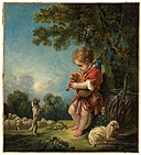 François Boucher - Shepherd Boy Playing Bagpipes - 61.958 - Museum of Fine Arts.jpg