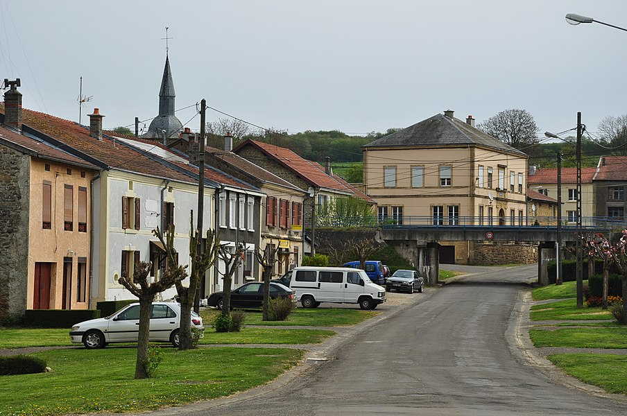 The Rue des Ponts (Bridges street) in Lamouilly (Meuse Department, northern France).