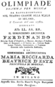 Francesco Bianchi - Olimpiade - titlepage of the libretto - Mailand 1781.png