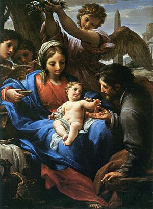 Francesco Mancini (1679–1758) - Image: Francesco Mancini Ruhe auf der Flucht nach Ägypten