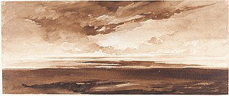 Francis Danby - Panorama of the Coast at Sunset, c. 1813, National Gallery of Art