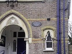 Photo of Francis William Topham black plaque