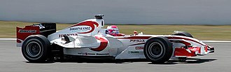 2006 French Grand Prix - Home driver Franck Montagny driving for Super Aguri. It would be his last outing for the team in the 2006 season.