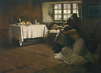 Frank Bramley - A Hopeless Dawn, 1888, oil on canvas