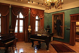 One of Franz Liszt's pianos from his apartment in Budapest (Source: Wikimedia)