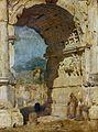 Franz von Lenbach - Der Titusbogen in Rom (1858).jpg
