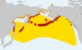 Fratercula corniculata distribution map cropped.png
