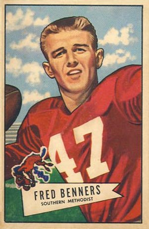 Fred Benners - Benners on a 1952 Bowman football card