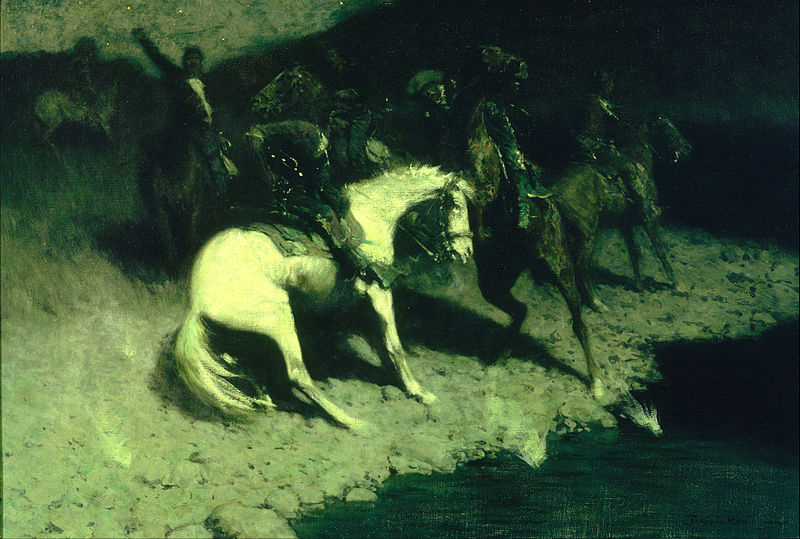 Soubor:Frederic Remington - Fired On - Google Art Project.jpg
