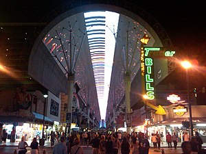 English: The Fremont Street Experience in Las ...