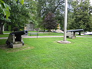 French cannons from Louisbourg in Toronto