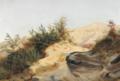 Fritz Petzholdt - Bakket italiensk landskab. Studie.png