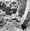 fundering bij noordelijke triomfboog, naar het noorden - batenburg - 20028298 - rce