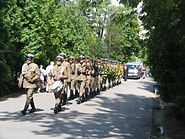 Funeral military ceremony in Poland