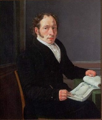 Gustav Friedrich Hetsch - G.F. Hetsch painted by Eckersberg
