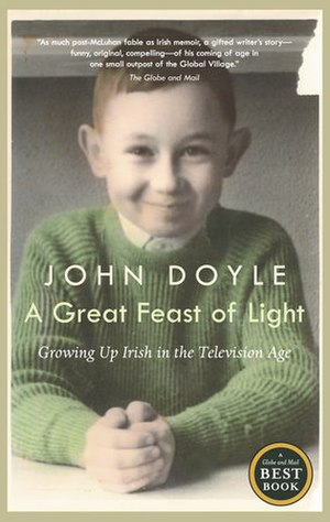 John Doyle (critic) - Cover of the Canadian and US editions of A Great Feast of Light