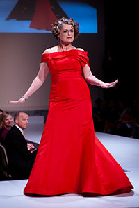 Gabrielle Rose wearing Something Blue Vancouver - - Heart and Stroke Foundation - The Heart Truth celebrity fashion show - Red Dress - Red Gown - Thursday February 8, 2012 - Creative Commons.jpg