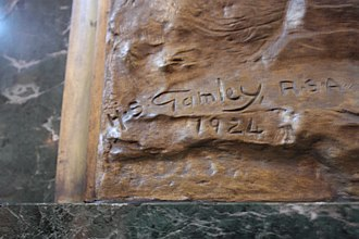 Henry Snell Gamley - Cast signature of Henry Snell Gamley (St Giles Cathedral Edinburgh
