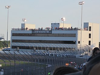 Gateway Motorsports Park - Gateway's circle track tower during the 2014 NASCAR Truck Series race.