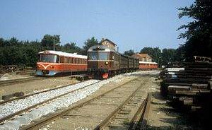 Gribskov Line - Trains on the Gribskov Line at Kagerup station in 1983.