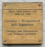 Gedenktafel am Haus Herderplatz 16 in Weimar (Quelle: Wikimedia)