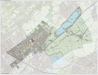 Leidschendam-Voorburg - Topographic map of Leidschendam-Voorburg, June 2015